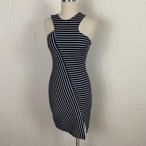 Zara Trafluc Bodycon Navy w/ White Stripes Dress